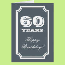 60th Birthday card for 60 years old man or woman