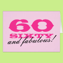 60th Birthday card for women | 60 and fabulous!