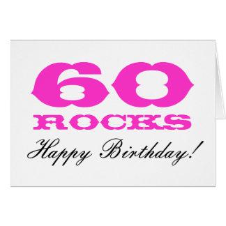 60th Birthday card for women | 60 Rocks!