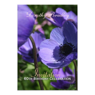 60th Birthday Celebration Anemone Custom Invite