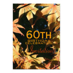 "60th Birthday Celebration Autumn Custom Invitation 5"" X 7"" Invitation Card"