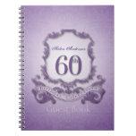60th Birthday Celebration Custom Framed Guest Book Notebooks