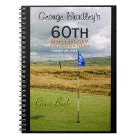 60th Birthday Celebration Golf Custom Guest Book