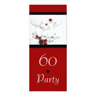 60th Birthday celebration party major CUSTOMIZE 4x9.25 Paper Invitation Card
