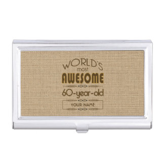 60th Birthday Celebration World Best Fabulous Case For Business Cards