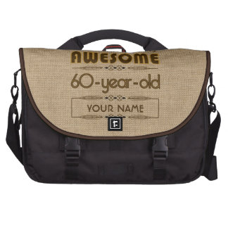60th Birthday Celebration World Best Fabulous Computer Bag