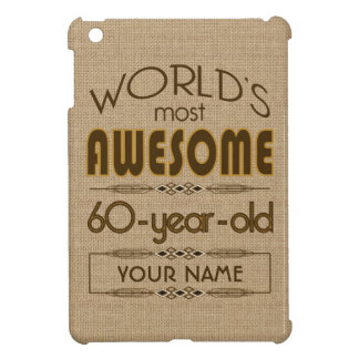 60th Birthday Celebration World Best Fabulous iPad Mini Cover