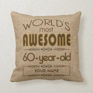60th Birthday Celebration World Best Fabulous Throw Pillow