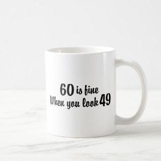 60th Birthday Classic White Coffee Mug
