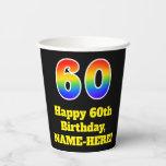 [ Thumbnail: 60th Birthday: Colorful, Fun, Exciting, Rainbow 60 ]
