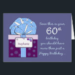 """60th Birthday Customizable Card<br><div class=""""desc"""">Looking for something different?  We have more. See a few of our favorite 60th birthday cards here:</div>"""