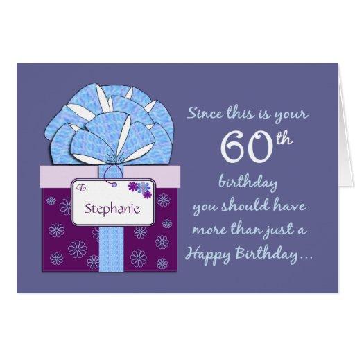 60th Birthday Customizable Card
