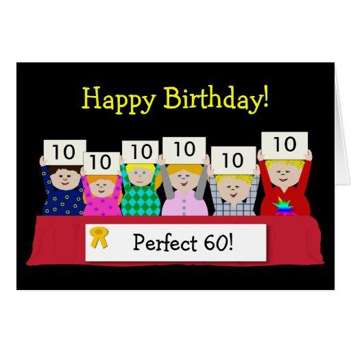 60th Birthday Customizable Cards