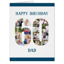 60th Birthday Dad Number 60 Photo Collage Big