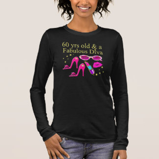 60TH BIRTHDAY DAZZLING DIVA DESIGN LONG SLEEVE T-Shirt