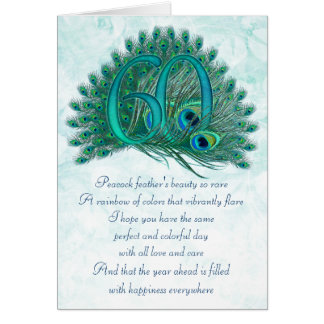 60th birthday decorative numbered cards