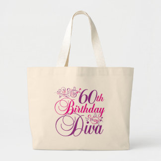60th Birthday Diva Canvas Bags