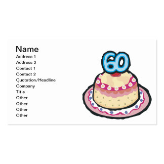 60th Birthday Double-Sided Standard Business Cards (Pack Of 100)