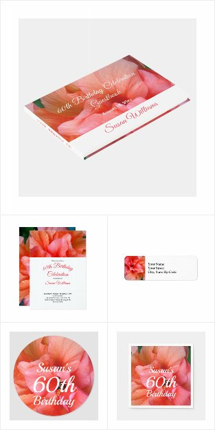 60th Birthday Flower Invitations Party Supplies