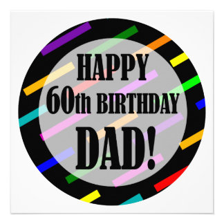 60th Birthday For Dad Custom Announcement