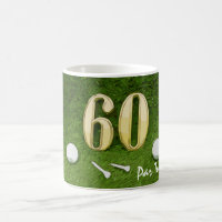 60th Birthday for golfer with golf ball and 60 Coffee Mug
