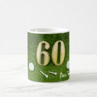 60th Birthday for golfer with golf ball and 60 Coffee Mug