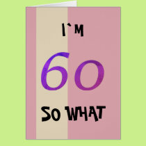 60th Birthday for Her Funny Card