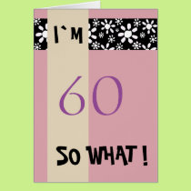 60th Birthday for Her Funny Motivational Card