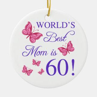 60th Birthday For Mom Ceramic Ornament