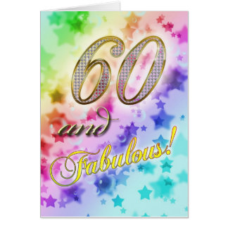 60th birthday for someone Fabulous Card