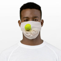 60th birthday for Tennis Player Cloth Face Mask