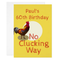 60th Birthday Fun  Chicken  Invitation