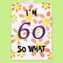 60th Birthday Funny Card