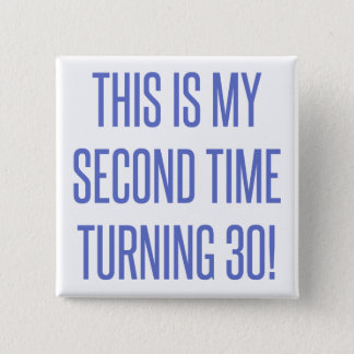 60th Birthday Gag Gift Pinback Button