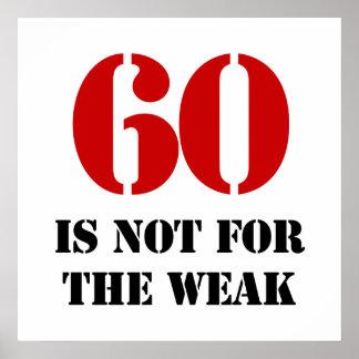60th Birthday Gag Gift Poster