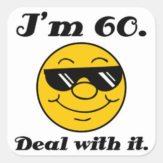 60th Birthday Gag Gift Square Sticker