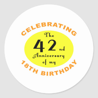 60th Birthday Gag Gift Sticker