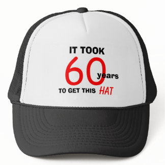 60th Birthday Gag Gifts Hat for Men