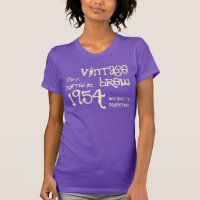 60th Birthday Gift 1954 Vintage Brew Purple v03 T-Shirt