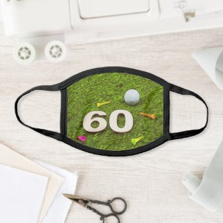 60th Birthday gift for golfer Face Mask
