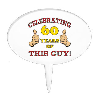 60th Birthday Gift For Him Cake Topper