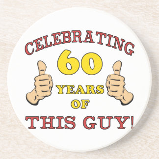 60th Birthday Gift For Him Coaster