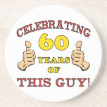 60th Birthday Gift For Him Drink Coasters