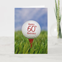 60th Birthday Golf Ball Card
