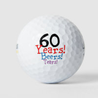 60th Birthday Golf Balls