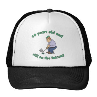 60th Birthday Golfer Gag Gift Trucker Hat