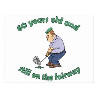 60th Birthday Golfer Gag Gift Postcard