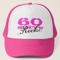 60th Birthday hat | Sixty Rocks!