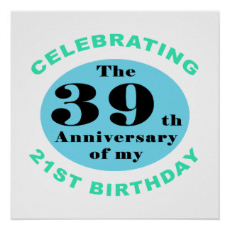 60th Birthday Humor Poster