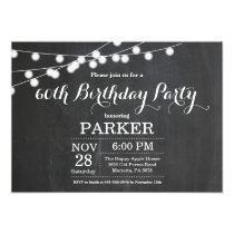 60th Birthday Invitation Chalkboard